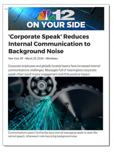 'Corporate Speak' Reduces Internal Communication to Background Noise pg1